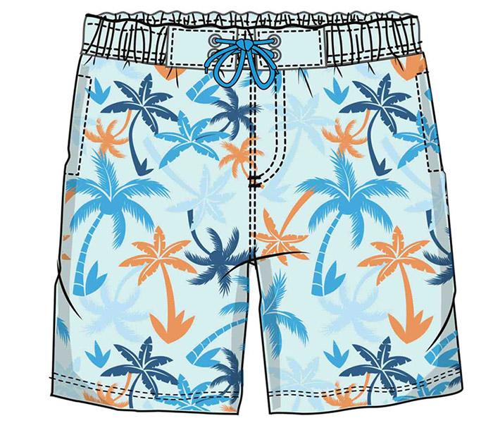 沙滩裤印花