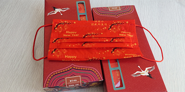 水刺印花中国红无纺布